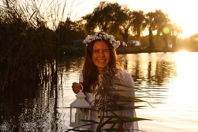 Shoot in het water op het campinastrand
