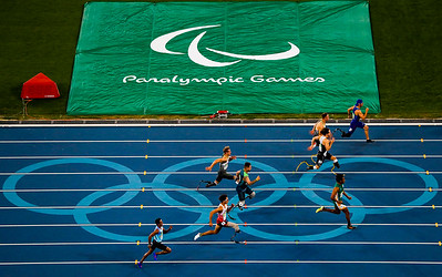 08/09/2016 - Brasil , Rio de Janeiro, Estádio Olímpico - Jogos Paralímpicos Rio 2016 - Alan Fonteles, (T44) na prova dos 100m rasos.. Foto: Washington Alves/MPIX/CPB