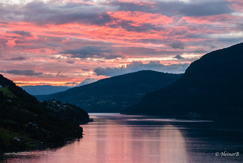 Evening at the North Fjord after a great day