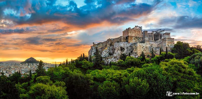 Nascer Do Sol Sensacional Na Grécia