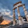 Pôr Do Sol No Milenar Templo De Apollo