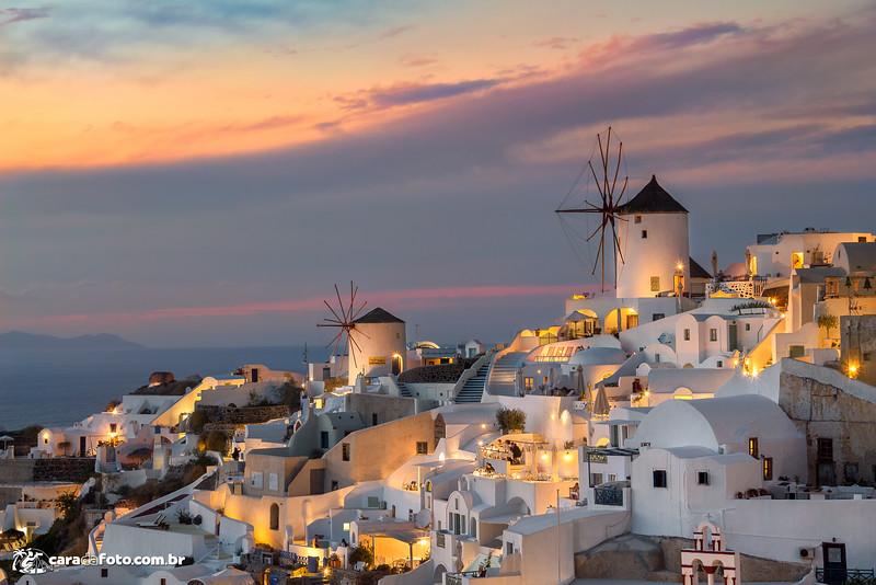 Show De Cores Em Santorini, Grécia