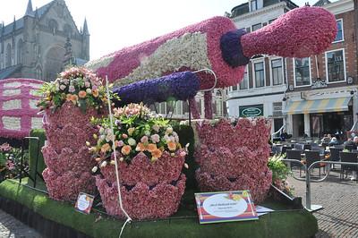 Praalwagens Bloemencorso in Haarlem