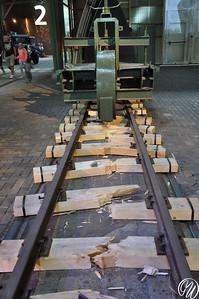 Schienenwolf, werktuig om de rails te vernietigen.