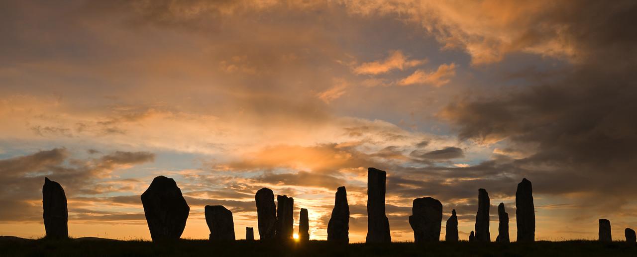 Sunrse through the ancient standing stones of Callanish 1