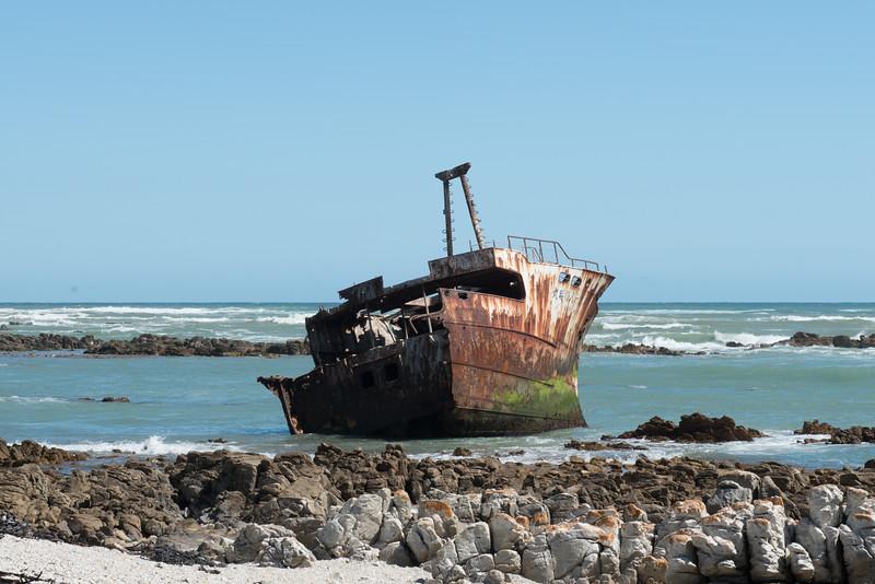 Fotograaf: Ton, Vergane glorie door botsing Atlantische en Indische oceaan. Zuidkaap Z-Afrika