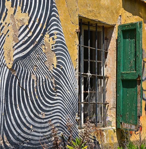 Fotograaf: Hilda van Welzen, Verlaten gebouw op Elba