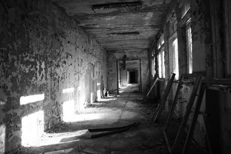 Fotograaf: Jamie Eilers, Ziekenhuis in Prypyat (nabij Chernobyl)