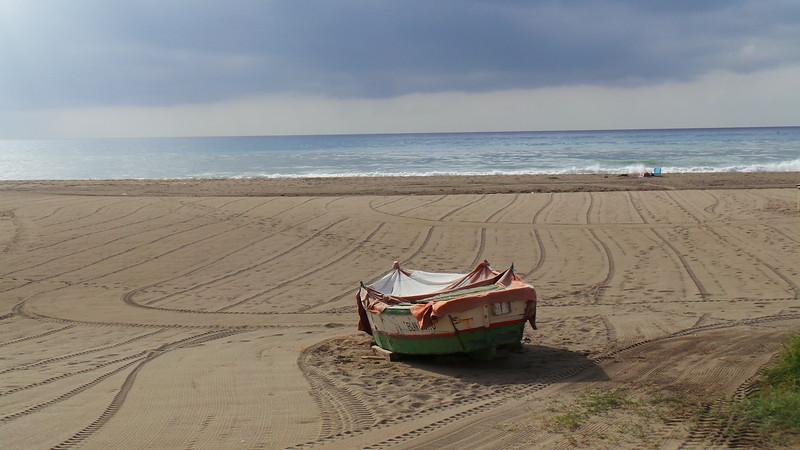 Fotograaf: Esther Hulspas, Carihuela, zuid Spanje, oud bootje