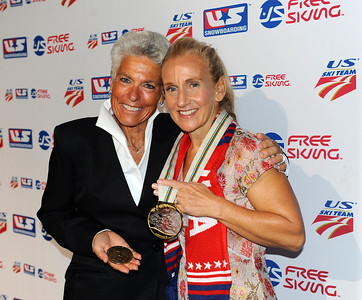Donna Weinbrecht with Didi Lawrence - New York Gold Medal Gala