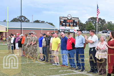 2018-09-13 FOUND Veterans Recognition On Field