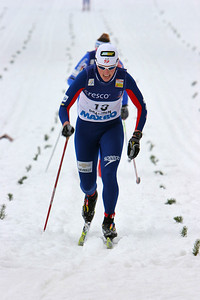 USA's Kikkan Randall races in Otepaeae, Estonia Photo Credit: Pete Vordenberg