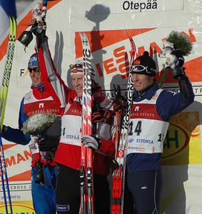 US Ski Team athlete Torin Koos gets his  first World Cup podium in Otepaeae, Estonia Photo Credit: Pete Vordenberg