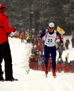 USA's Kris Freeman races in Otepaeae, Estonia Photo Credit: Pete Vordenberg