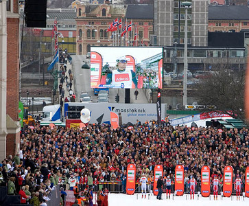 Crowds gather in Otepaeae, Estonia to watch cross country races. Photo Credit: Pete Vordenberg