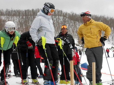 2011 Windham Mountain U.S. Ski Team Day with Olympic legends Tommy Moe, Donna Weinbrecht, Trace Worthington, Andrew Weibrecht and Caitlin Sarubbi.  Photo: Ruth Flanagan/USSA