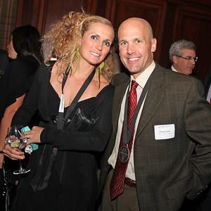 Sarah Schleper with Doug Lewis 2011 New York Gold Medal Gala. October 26, 2011 Photo: Sarah Ely/USSA