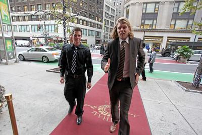 Steven Nyman (right) 2011 New York Gold Medal Gala. October 26, 2011 Photo: Sarah Ely/USSA