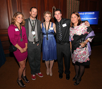 Ashley Caldwell, Seth Wescott, Hannah Kearney and Jeremy Cota 2011 New York Gold Medal Gala. October 26, 2011 Photo: Sarah Ely/USSA