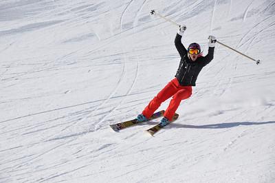Squaw Valley 2012 U.S. Ski Team Day April 7, 2012 U.S. Ski Team freestyle alumni, Shannon Bahrke Dawn Patrol with U.S. Ski Team Athletes and Olympic Sponsors Photo: Katie Perhai/USSA