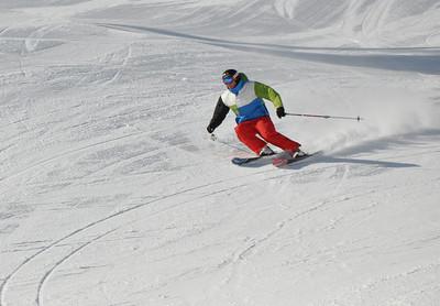 Squaw Valley 2012 U.S. Ski Team Day April 7, 2012 U.S. Ski Team freestyle alumni, Jonny Moseley Dawn Patrol with U.S. Ski Team Athletes and Olympic Sponsors Photo: Katie Perhai/USSA