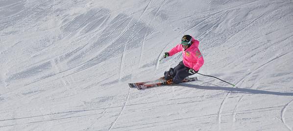 Squaw Valley 2012 U.S. Ski Team Day April 7, 2012 U.S. Ski Team alpine skier, Stacey Cook Dawn Patrol with U.S. Ski Team Athletes and Olympic Sponsors Photo: Katie Perhai/USSA