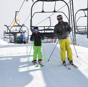 Squaw Valley 2012 U.S. Ski Team Day April 7, 2012 U.S. Ski Team alpine alumni, Bob Ormsby Dawn Patrol with U.S. Ski Team Athletes and Olympic Sponsors Photo: Katie Perhai/USSA