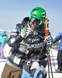 Squaw Valley 2012 U.S. Ski Team Day April 7, 2012 U.S. Ski Team alpine skier, Travis Ganong Dawn Patrol with U.S. Ski Team Athletes and Olympic Sponsors Photo: Katie Perhai/USSA