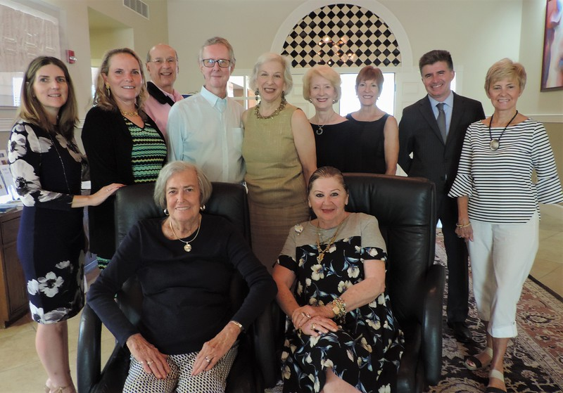 Back Row, from left: Jennifer Maglio '89, Charlie Lenger '78, Jan Sirota, Chuck Hamilton '64, (co-chair), Sue Jacobson (co-chair), Christine Jennings, Alison Gardner, Altom Maglio '90, Karin Gustafson. Front Row, from left: Mary Lou Wingerter-Couch, Renée Hamad.