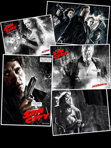 Sin City (2005) - A film that explores the dark and miserable Basin City. It tells the story of three different people, all caught up in violent corruption. It is a neo-noir based film based on Frank Miller's graphic novel series of the same name.