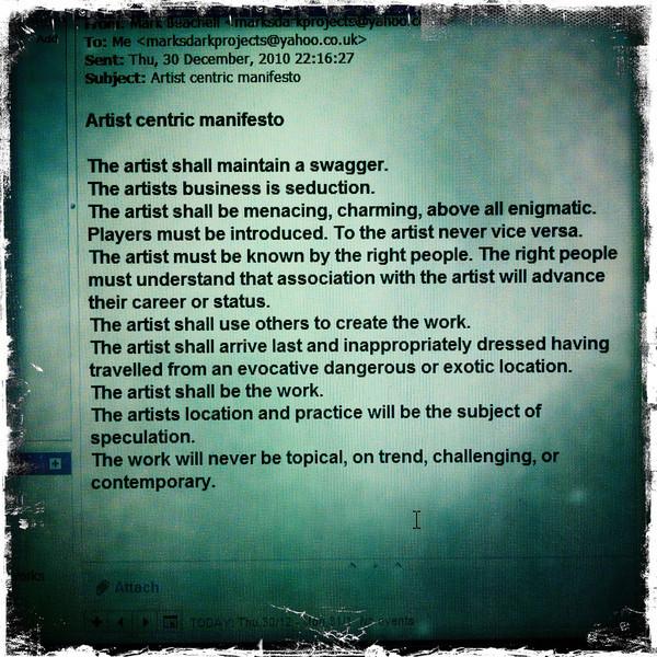 Mark Beachell's Dark Projects Manifesto