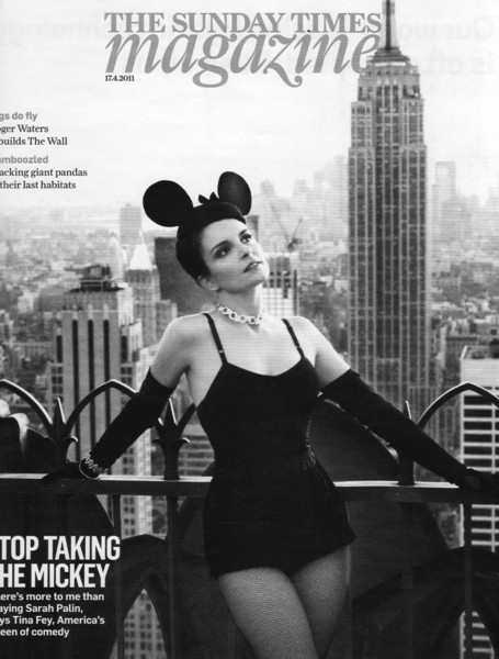Tina Fey on the cover of The Sunday Times magazine April 2011