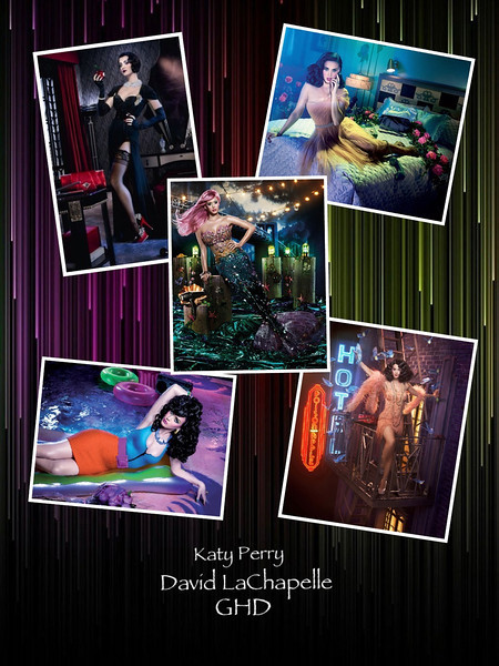 Photographs by David LaChapelle for GHD Scarlett Collection featuring Katy Perry<br /> <br /> Image created by Jacqueline Allott on the iPad using the Pic Collage App