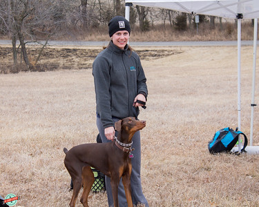 Fox 4 meteorologist Michelle Bogowith and her doberman Dakota, who wasn't thrilled with the drone filming the Strut from overhead.