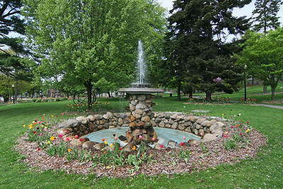 Fountain in Heckshire Park in Huntington,NY.