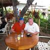Daniel and Paul having dinner at The Hula Grill on Ka'anapali Beach