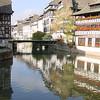 Canal in Strasbourg.  October 24, 2003