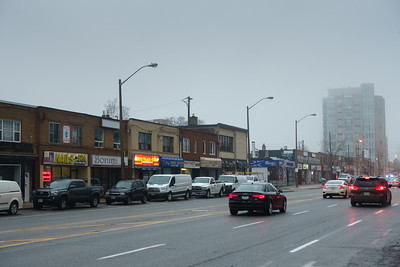 A Foggy Morning on Bloor Street