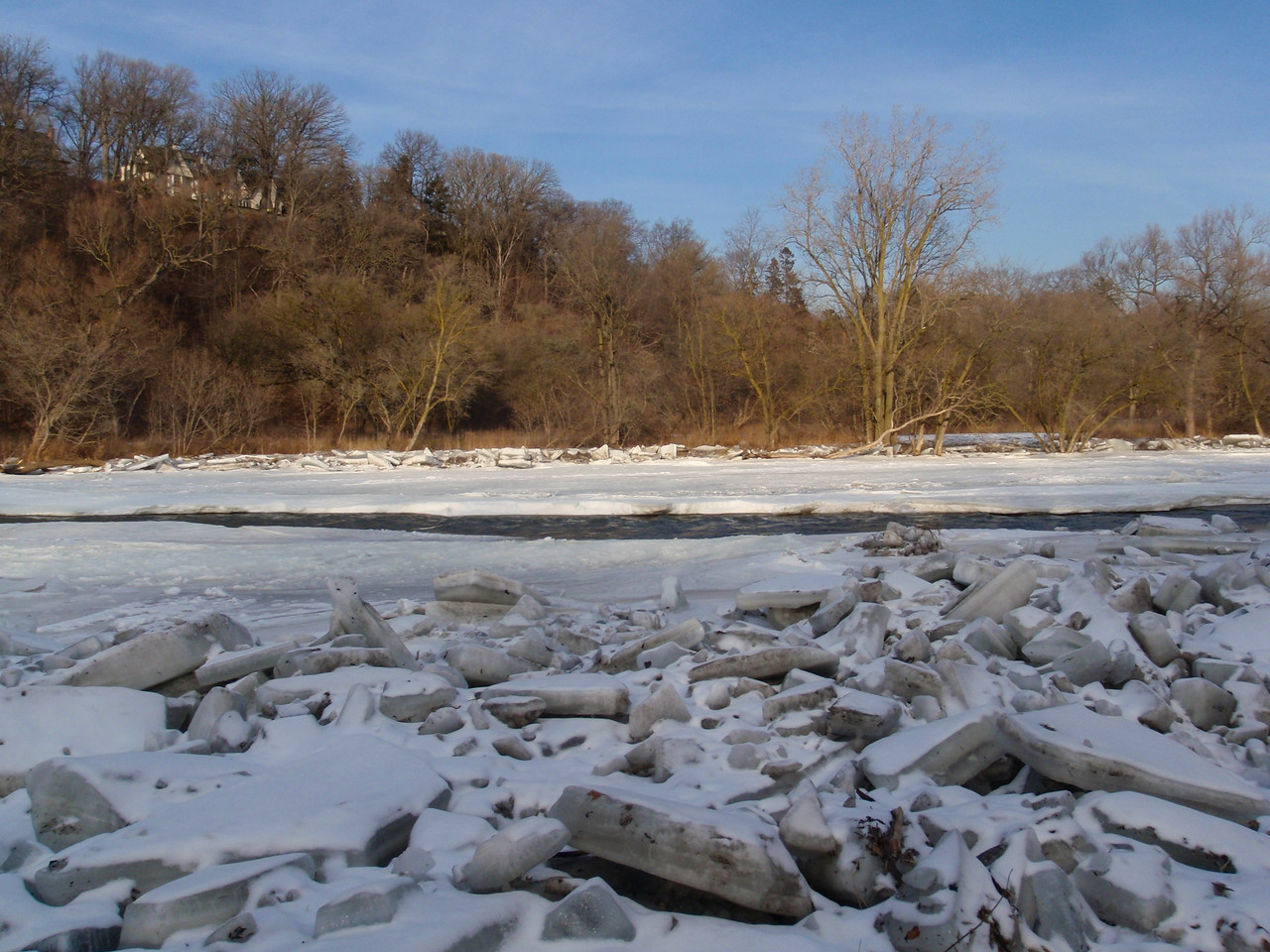 Ice Jam On The Humber