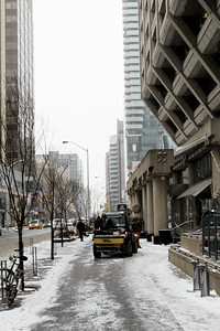 Sidewalk Clearing at the Manulife Centre
