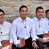Our new novices: Thuan, Thien, Hung and Truc