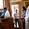 The postulants wait to enter