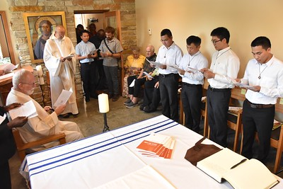 Fr. Ed receives the postulants' request