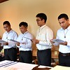 The postulants make their request to become novices