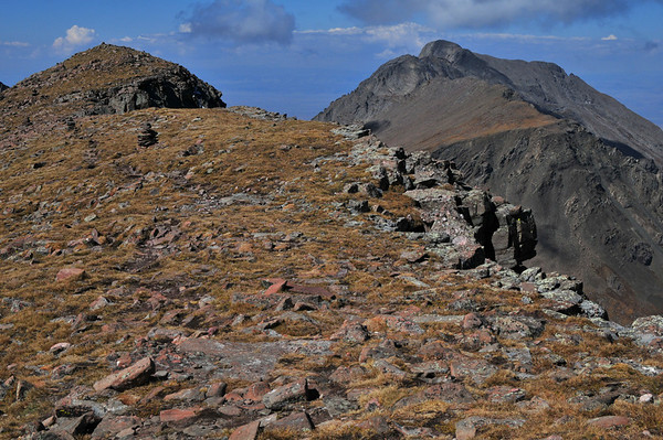 Kit Carson Mountain from Humboldt Peak<br /> 14,165