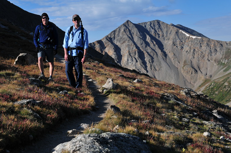 Lizard and Mike on the La Plata Trail