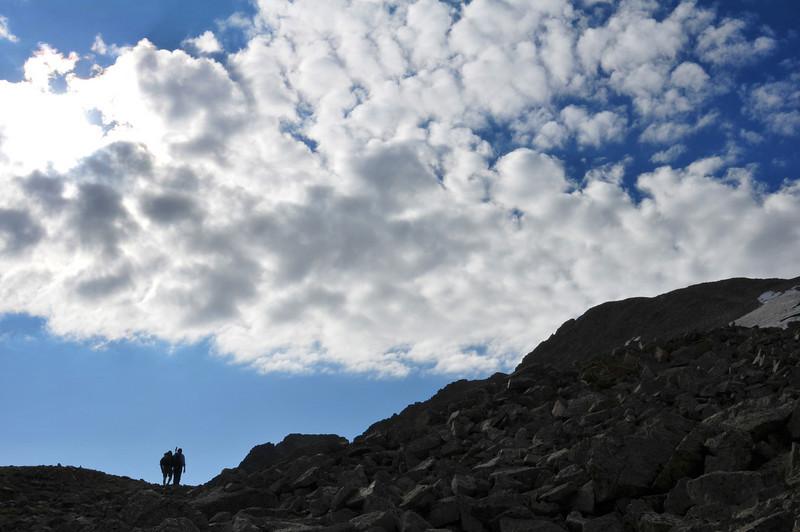 Heading toward the true summit