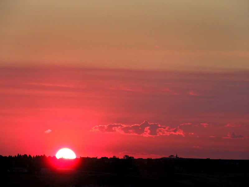 Sunrise on the way to Pikes Peak Highway