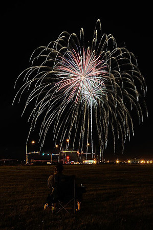 Fireworks burst over Effingham Saturday evening during the Fourth of July celebration. Chet Piotrowski Jr. / Piotrowski Studios