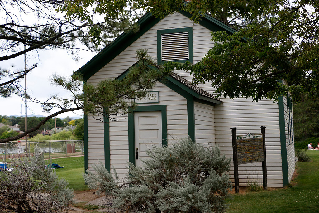 . Lone Tree Schoolhouse sits in North Lake Park, waiting for visitors to knock on its door on Tuesday, July 4, 2017. (Michelle Risinger/ Loveland Reporter-Herald)